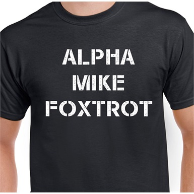 Alpha Mike Foxtrot Printed T-Shirt