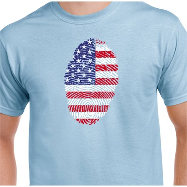 America Thumbprint Printed T-Shirt