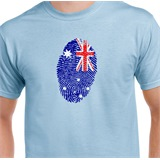 Australia Thumbprint Printed T-Shirt - ABS019