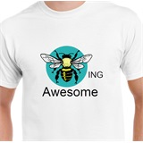 Bee-ing Awesome Printed T-Shirt - FUN005