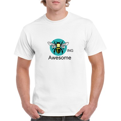 Bee-ing Awesome Printed T-Shirt