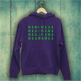 Binary Geek Mens Printed Hoodie - FUN021MH