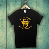 Black with Gold Not My Monkeys Printed T-Shirt - ANI001