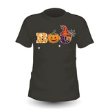 Boo! Printed Ladies Halloween T-Shirt - FUN018