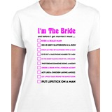 Brides to-do List Printed T-Shirt - EVE003