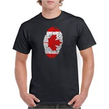 Canada Thumbprint Printed T-Shirt - ABS022