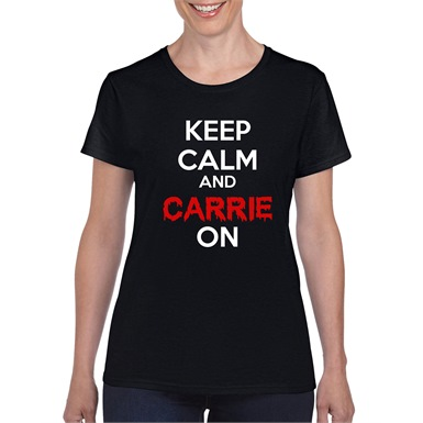 Carrie On Ladies T-shirt