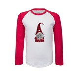 Christmas Gnome Kids Printed Baseball Tee - FUN031KBB
