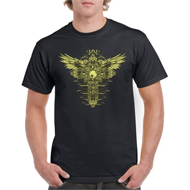 Corrupted Cross Mens T-Shirt