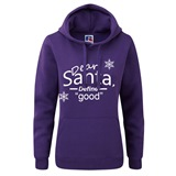 Dear Santa Ladies Printed Hoody - FUN020LSW