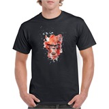 Devil Skull Printed T-Shirt - ABS001