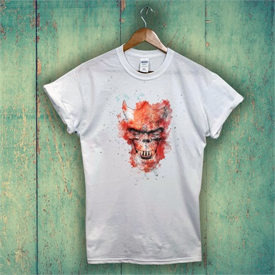 Devil Skull Printed T-Shirt