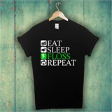 Eat Sleep Floss Repeat Kids Printed T-Shirt - ABS033