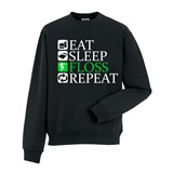 Eat Sleep Floss Repeat Mens Printed Sweatshirt - ABS033SW