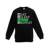 Eat Sleep Mine Repeat Kids Printed Sweatshirt - KID017SW