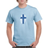 Finland Thumbprint Printed T-Shirt - ABS009