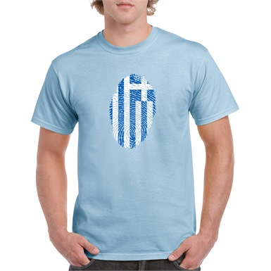 Greece Thumbprint Printed T-Shirt