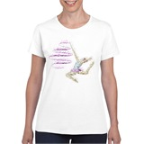 Gymnastics Inksplat Ladies Printed T-Shirt - SPO004