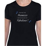 Hand me the Prosecco Ladies Printed T-Shirt - FUN004