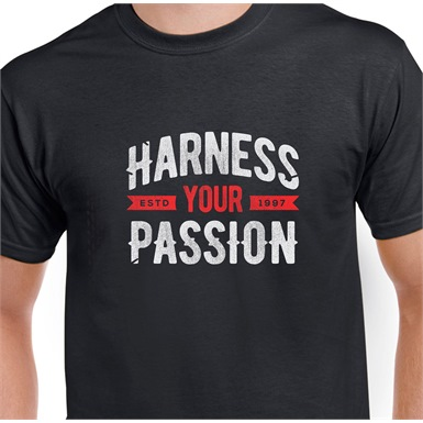 Harness Your Passion Printed T-Shirt
