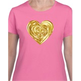 Heart of Gold Printed Ladies T-Shirt - ABS006