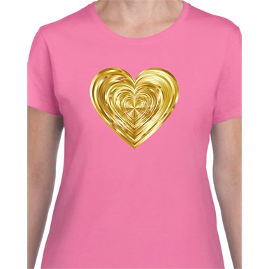 Heart of Gold Printed Ladies T-Shirt