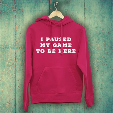 I Paused My Game To Be Here  Ladies Printed Hoodie