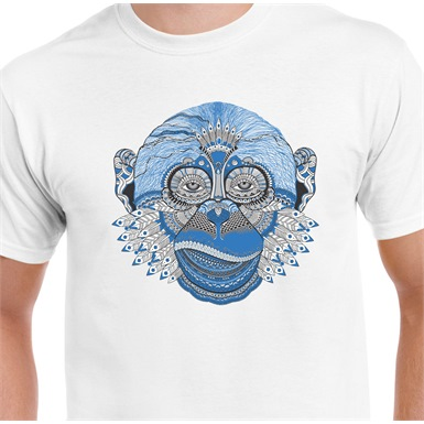 Monkey Printed T-Shirt