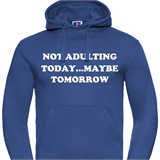 Not Adulting Today Mens Printed Hoodie - FUN022MH