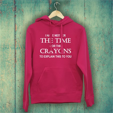 Not Enough Crayons Ladies Printed Hoodie