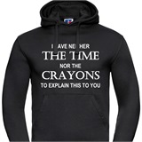 Not Enough Crayons Mens Printed Hoodie - FUN034MH