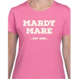 Pink Mardy Mare Customisable Ladies Printed T-Shirt - FUN009
