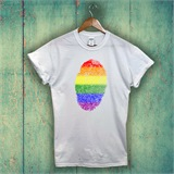 Pride Thumbprint Printed T-Shirt - ABS017