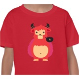 Red Lil' Monster Kids Printed T-Shirt - KID007