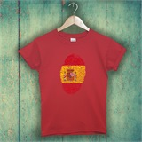 Red Spain Thumbprint Printed T-Shirt - ABS025