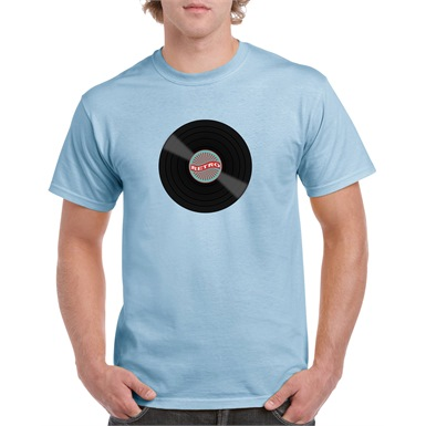 Retro Vinyl Printed T-Shirt