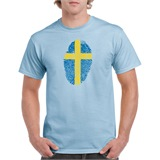 Sweden Thumbprint Printed T-Shirt - ABS028