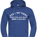Tech Support Mens Printed Hoodie - FUN023MH