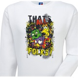 Thats All Folks Printed Sweatshirt - FUN002SW
