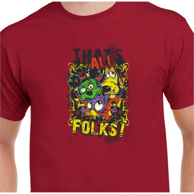 That's All Folks Printed T-Shirt