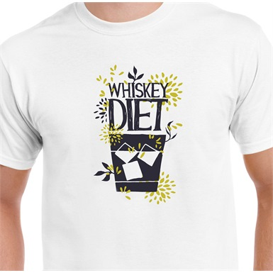 The Whiskey Diet Printed T-Shirt